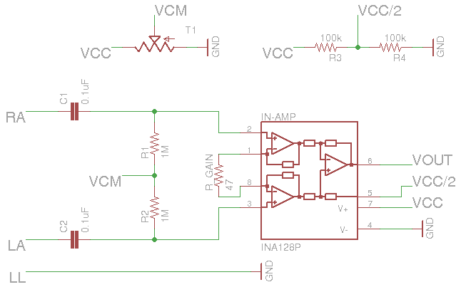 Instrumentation Amplifier Circuit Diagram | Ecg Project Biostatmatt